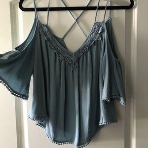 Charlotte Russe cold shoulder blouse